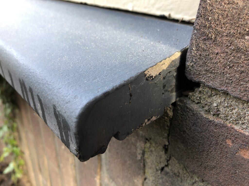 asbesthoudende waterslag met coating